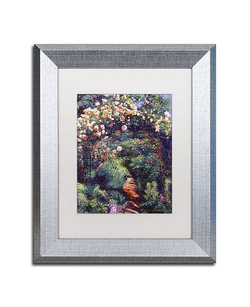 "Trademark Global David Lloyd Glover 'Rose Arbor Pathway' Matted Framed Art - 11"" x 14"""