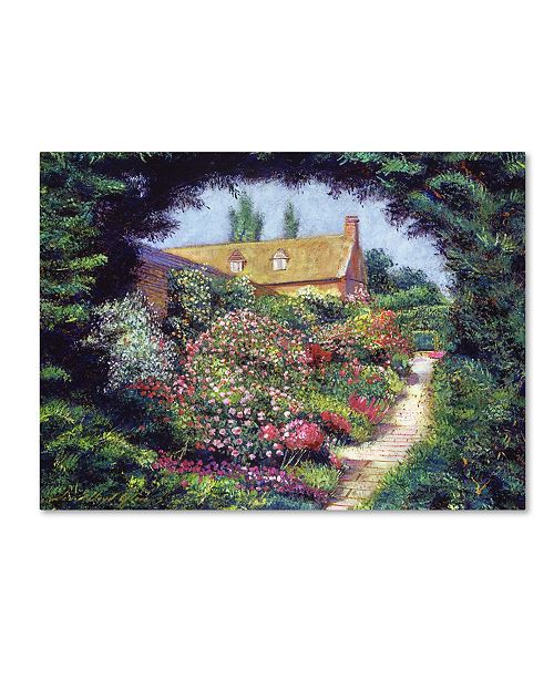 "Trademark Global David Lloyd Glover 'English Garden Stroll' Canvas Art - 24"" x 32"""