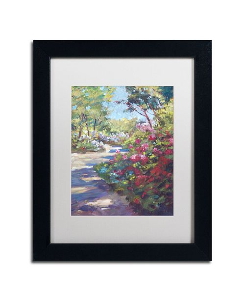 "Trademark Global David Lloyd Glover 'Arboretum Garden Path' Matted Framed Art - 11"" x 14"""