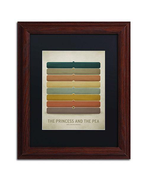 "Trademark Global Christian Jackson 'Princess Pea' Matted Framed Art - 11"" x 14"""