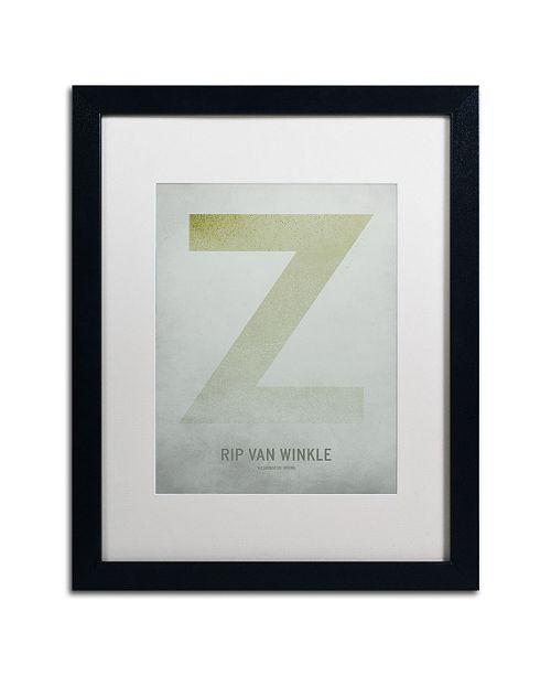 """Trademark Global Christian Jackson 'Rip Van Winkle' Matted Framed Art - 16"""" x 20"""""""
