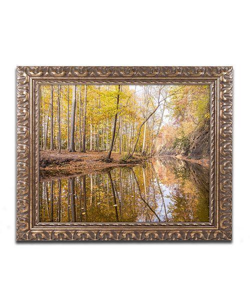 """Trademark Global Jason Shaffer 'Beaver Creek 3' Ornate Framed Art - 14"""" x 11"""""""