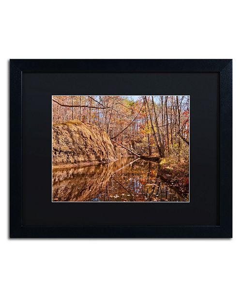"Trademark Global Jason Shaffer 'Beaver Creek 6' Matted Framed Art - 20"" x 16"""