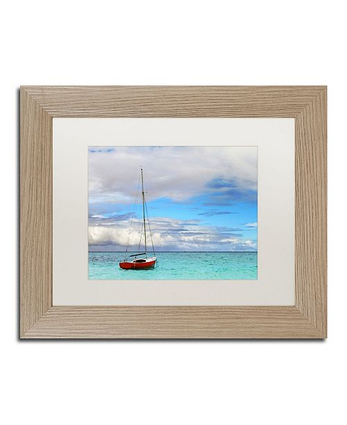 "Trademark Global Jason Shaffer 'Hawaii 3' Matted Framed Art - 14"" x 11"""