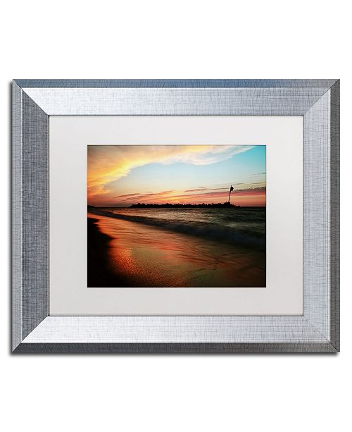 "Trademark Global Jason Shaffer 'Lakeview Sunset' Matted Framed Art - 14"" x 11"""