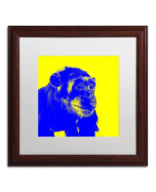 "Trademark Global Claire Doherty 'Chimp No 2' Matted Framed Art - 16"" x 16"""
