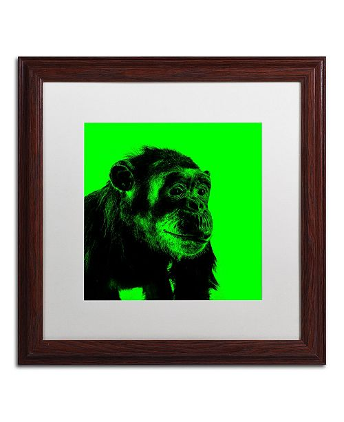 """Trademark Global Claire Doherty 'Chimp No 5' Matted Framed Art - 16"""" x 16"""""""