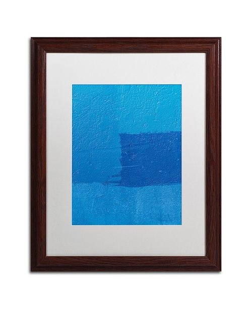 """Trademark Global Claire Doherty 'Abstract Blue' Matted Framed Art - 16"""" x 20"""""""