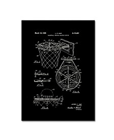 """Claire Doherty 'Basketball Hoop Patent 1965 Black' Canvas Art - 14"""" x 19"""""""