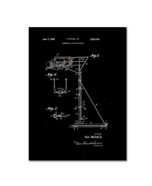 "Trademark Global Claire Doherty 'Practice Device Patent 1960 Part 1 Black' Canvas Art - 14"" x 19"""