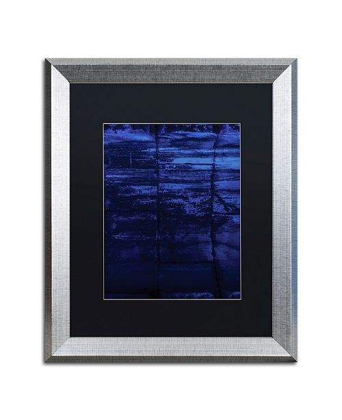 """Trademark Global Claire Doherty 'Blocks of Blue' Matted Framed Art - 16"""" x 20"""""""