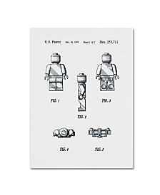 """Claire Doherty 'Lego Man Patent 1979 Page 1 White' Canvas Art - 14"""" x 19"""""""