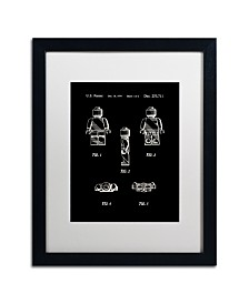 """Claire Doherty 'Lego Man Patent 1979 Page 1 Black' Matted Framed Art - 16"""" x 20"""""""