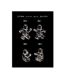 """Claire Doherty 'Lego Man Patent 1979 Page 2 Black' Canvas Art - 14"""" x 19"""""""