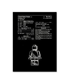 "Claire Doherty 'Lego Man Patent 1979 Black' Canvas Art - 14"" x 19"""