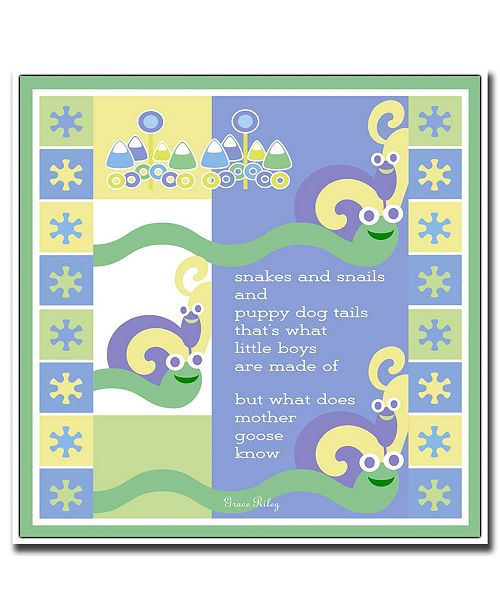 """Trademark Global Snakes & Snails by Grace Riley Canvas Art - 24"""" x 24"""""""