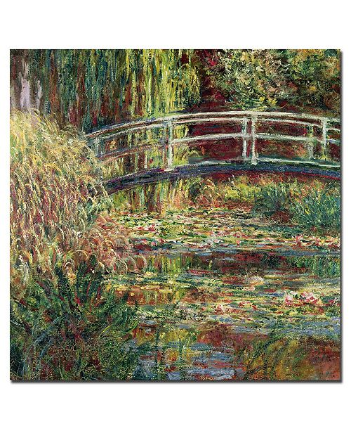 "Trademark Global Claude Monet 'Waterlily Pond Pink Harmony1900' Canvas Art - 24"" x 24"""
