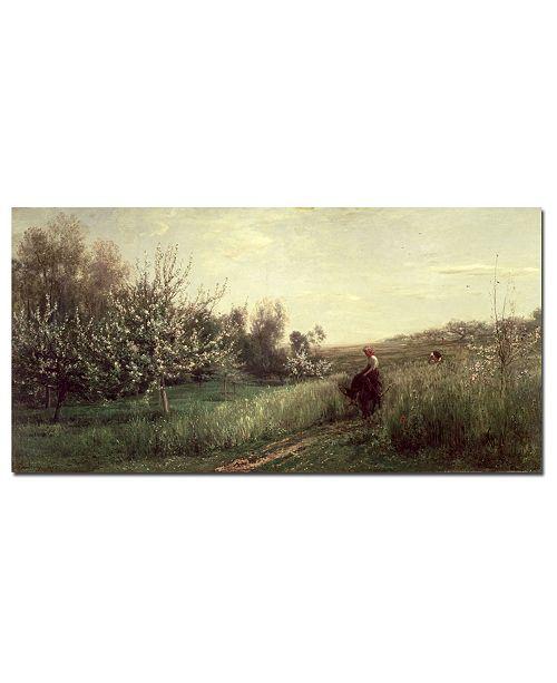 "Trademark Global Charles Daubigny 'Spring 1857' Canvas Art - 32"" x 16"""