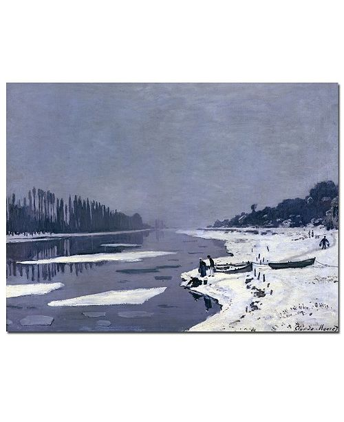 "Trademark Global Claude Monet 'Ice on Seine at Bougival, 1867-8' Canvas Art - 47"" x 35"""
