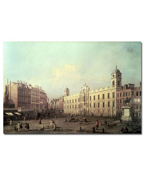 """Trademark Global Canaletto 'Northumberland House' Canvas Art - 47"""" x 30"""""""