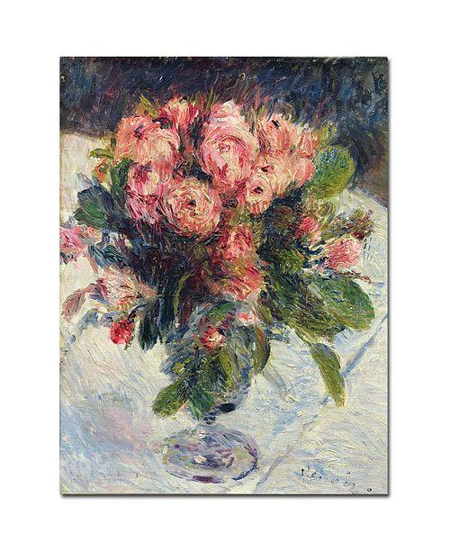 "Trademark Global Pierre Auguste Renoir 'Moss-Roses1890' Canvas Art - 14"" x 19"""