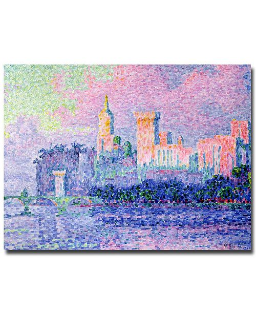 "Trademark Global Paul Signac 'Chateau de Papes, Avignon, 1900' Canvas Art - 24"" x 18"""
