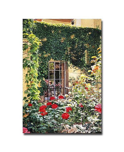 "Trademark Global David Lloyd Glover 'Afternoon in the Rose Garden' Canvas Art - 24"" x 16"""