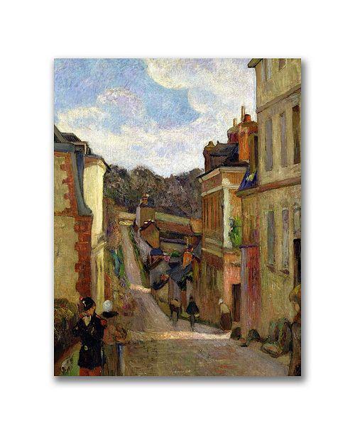 "Trademark Global Paul Gauguin 'A Suburban Street' Canvas Art - 32"" x 26"""