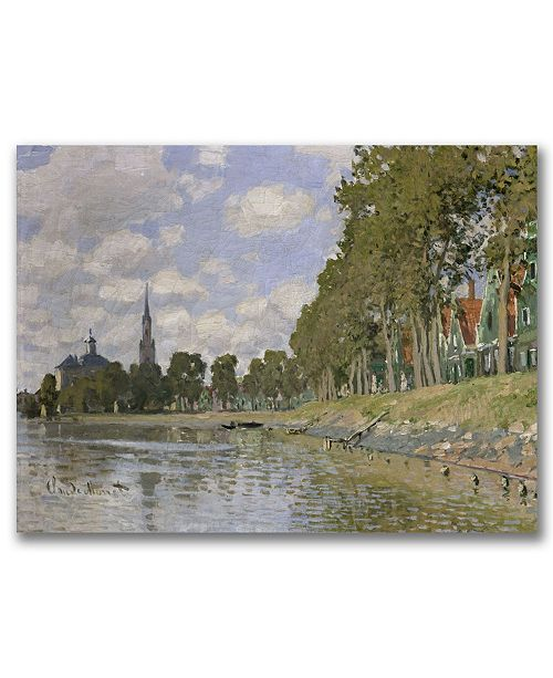 "Trademark Global Claude Monet 'Zaandam, 1871' Canvas Art - 47"" x 30"""