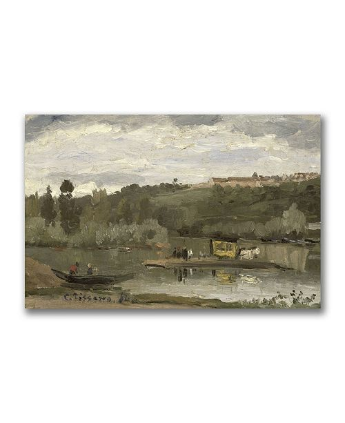 "Trademark Global Camille Pissarro 'Ferry at Verenne-Saint Hilaire' Canvas Art - 32"" x 22"""