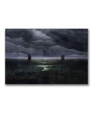 Caspar Friedrich Sea Shore in Moonlight Canvas Art - 24 x 18