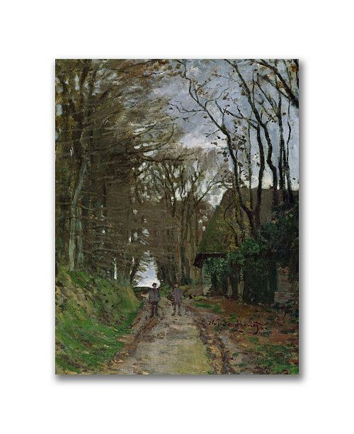"Trademark Global Claude Monet 'Path in Normandy' Canvas Art - 47"" x 35"""