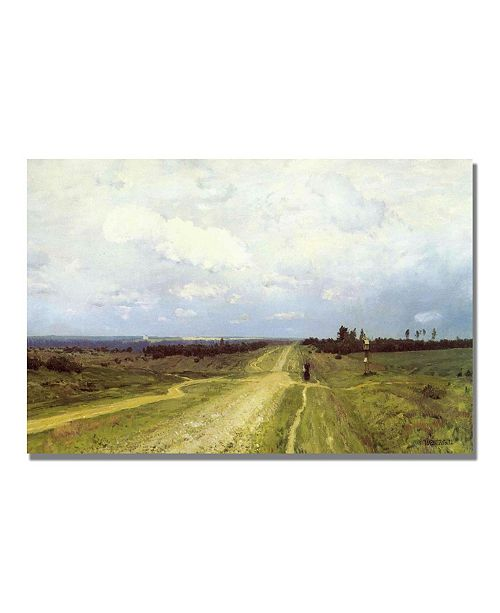 "Trademark Global Isaac Levitan 'The Vladimirka Road 1892' Canvas Art - 32"" x 22"""