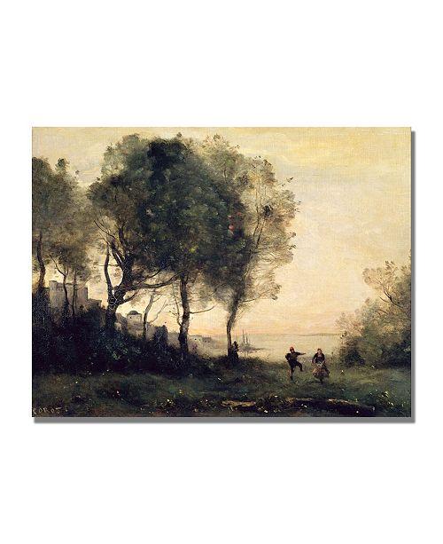 "Trademark Global Jean Baptiste Corot 'Souvenir of Italy' Canvas Art - 32"" x 24"""