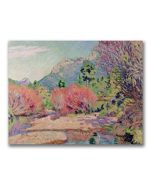 "Trademark Global Jean Baptiste Guillaumin 'The Banks of the Sedelle' Canvas Art - 24"" x 18"""