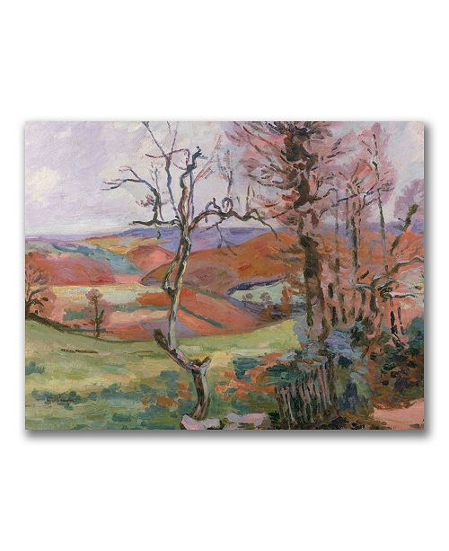 """Trademark Global Jean Baptiste Guillaumin 'The Puy Barion at Crozant' Canvas Art - 32"""" x 24"""""""