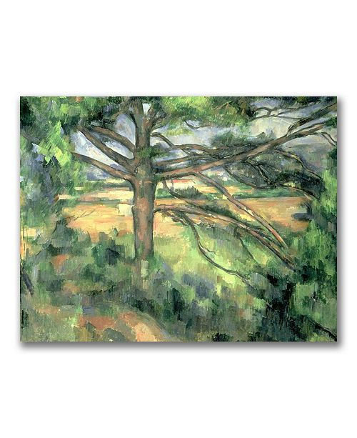 "Trademark Global Paul Cezanne 'The Large Pine' Canvas Art - 47"" x 35"""