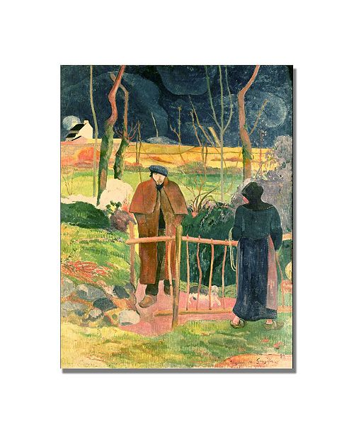 "Trademark Global Paul Gauguin 'Bonjour Monsieur Gauguin' Canvas Art - 47"" x 35"""