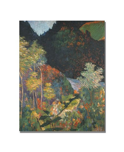 "Trademark Global Paul Gauguin 'Landscape' Canvas Art - 24"" x 18"""