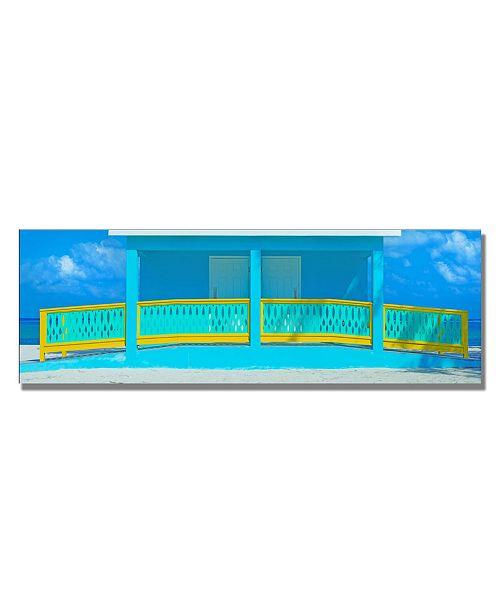 "Trademark Global Preston 'Cayman Beach House' Canvas Art - 24"" x 8"""