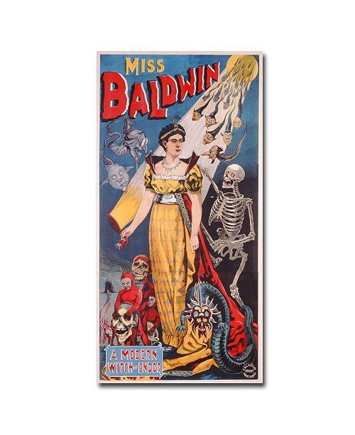 """Trademark Global Miss Baldwin A Modern Witch of Endor 1888' Canvas Art - 24"""" x 12"""""""