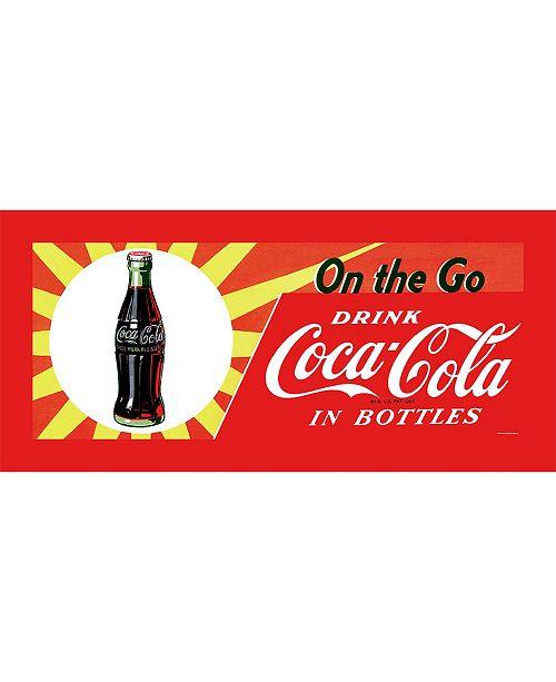 "Trademark Global 'On the Go Coke' Canvas Art - 36"" x 14"""