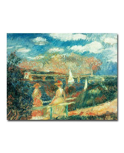 "Trademark Global Pierre Auguste Renoir 'Banks of the Seine at Argenteuil' Canvas Art - 47"" x 30"""