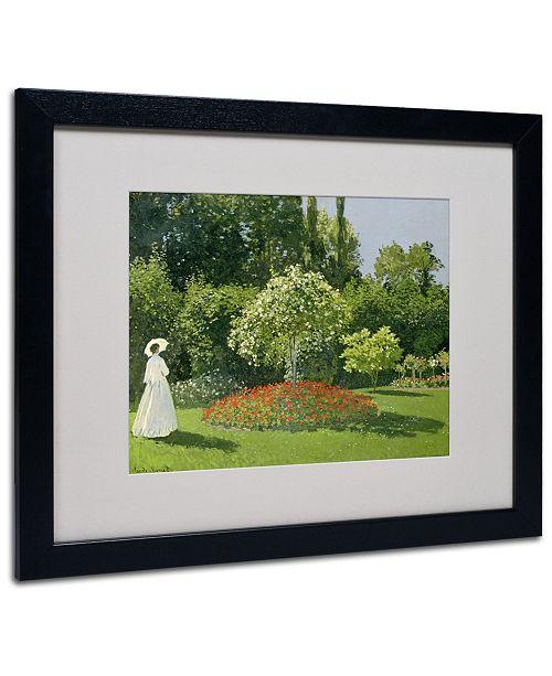 "Trademark Global Claude Monet 'Jeanne Marie Lecadre in the Garden' Framed Art - 20"" x 16"""