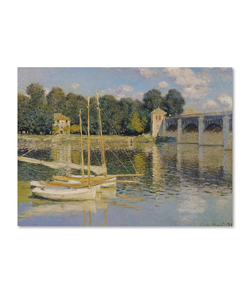 "Trademark Global Claude Monet 'The Bridge at Argenteuil' Canvas Art - 14"" x 19"""