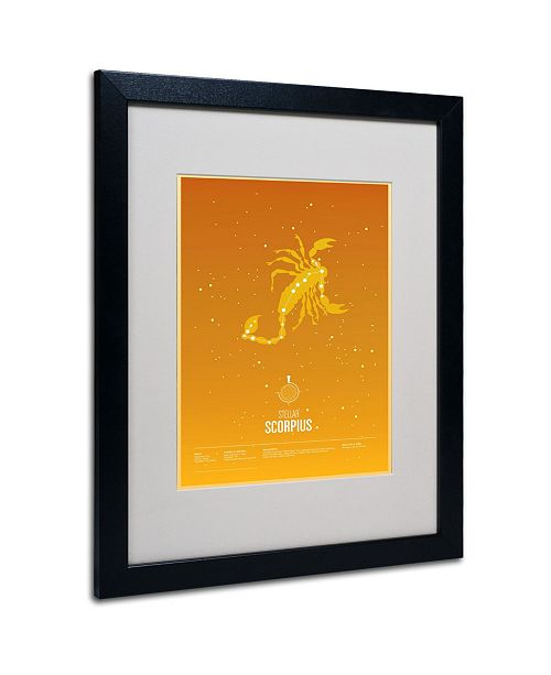 "Trademark Global Christian Jackson 'Scorpio' Matted Framed Art - 20"" x 16"""