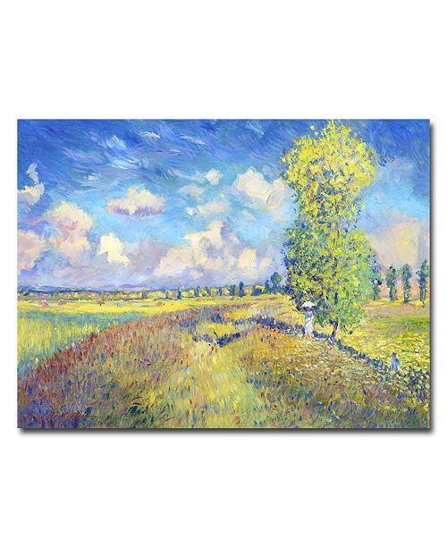 "Trademark Global David Lloyd Glover 'Summer Field of Poppies' Canvas Art - 32"" x 26"""