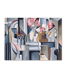 """Catherine Abel 'Still Life With Brown Jug' Canvas Art - 14"""" x 19"""""""