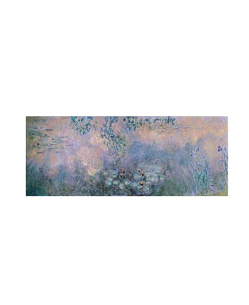 "Trademark Global Claude Monet 'Water Lilies 1914-22' Canvas Art - 32"" x 10"""