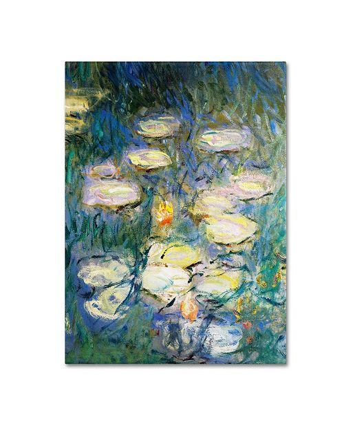 """Trademark Global Claude Monet 'Water Lilies V 1840-1926' Canvas Art - 14"""" x 19"""""""